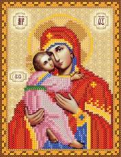 Рисунок на ткани для вышивки бисером Богородица Владимирская