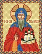 Рисунок на атласе для вышивки бисером Святой Олег Брянский