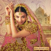 Рисунок на холсте для вышивки бисером Цветок Индии