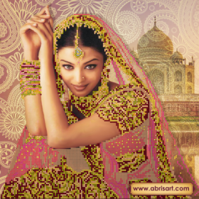 Рисунок на холсте для вышивки бисером Цветок Индии Абрис Арт АС-142 - 106.00грн.