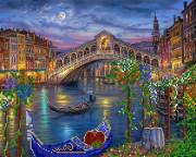 Рисунок на ткани для вышивки бисером Венецианская луна