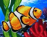 Рисунок на ткани для вышивки бисером Коралловая рыбка