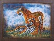 Набор для вышивки бисером Туманное утро. Тигры
