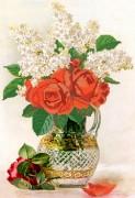 Рисунок на ткани для вышивки бисером Красные розы