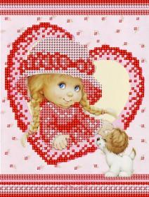 Рисунок на ткани для вышивки бисером Детка и щенок А-строчка АК5-009 - 34.00грн.