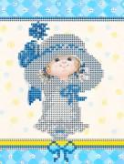 Рисунок на ткани для вышивки бисером Васильковая детка