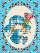 Рисунок на ткани для вышивки бисером Детка-сердцеедка