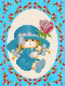Рисунок на ткани для вышивки бисером Детка-сердцеедка А-строчка АК5-011 - 34.00грн.