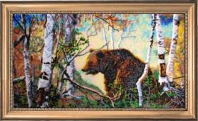 Набор для вышивки бисером Медведь, , 752.00грн., 586Б, Баттерфляй (Butterfly), Большие наборы