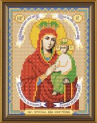Рисунок на ткани для вышивки бисером Божия Матерь Спорушница Грешных