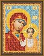 Рисунок на ткани для вышивки бисером Божия Матерь Казанская