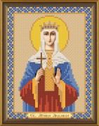 Рисунок на ткани для вышивки бисером Святая Людмила