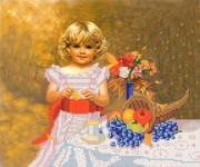 Рисунок на ткани для вышивки бисером Алиса