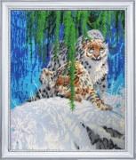 Набор для вышивки бисером Снежные барсы