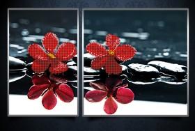 Рисунки на ткани для вышивки бисером Красные орхидеи А-строчка АР3-002 - 136.00грн.
