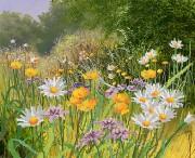 Рисунок на ткани для вышивки бисером Полевые цветы