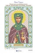 Рисунок на ткани для вышивки бисером Святая Преподобная Евгения