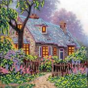 Рисунок на холсте для вышивки бисером Сказочный домик