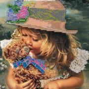 Рисунок на холсте для вышивки бисером Любимая игрушка