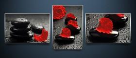 Триптих рисунки на атласе для вышивки бисером Алая роза А-строчка АР3-003 - 228.00грн.