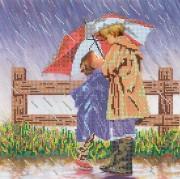 Рисунок на холсте для вышивки бисером Под зонтиком