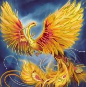 Рисунок на холсте для вышивки бисером Жар-птица