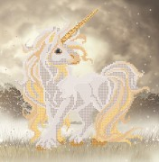 Рисунок на атласе для вышивки бисером Единорог