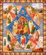 Рисунок на атласе для вышивки бисером Неопалимая купина