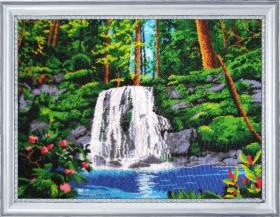 Набор для вышивки бисером Водопад, , 752.00грн., 318Б, Баттерфляй (Butterfly), Большие наборы