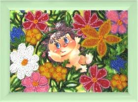 Рисунок на атласе для вышивки бисером Ежик в цветах Баттерфляй (Butterfly) 932Б - 20.00грн.