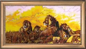 Набор для вышивки бисером Львы, , 752.00грн., 588Б, Баттерфляй (Butterfly), Большие наборы
