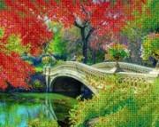Рисунок на ткани для вышивки бисером Дворцовый парк