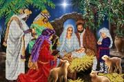 Схема для вышивки бисером на атласе Рождество