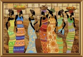 Набор для вышивки бисером Африканские красавицы, , 649.00грн., ДК1038, Новая Слобода (Нова слобода), Большие наборы