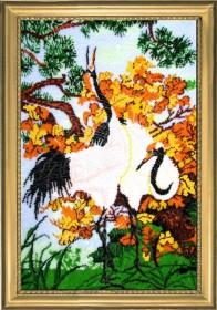 Набор для вышивки бисером Журавли, , 752.00грн., 513Б, Баттерфляй (Butterfly), Большие наборы
