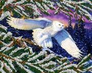 Рисунок на ткани для вышивки бисером Полярная сова