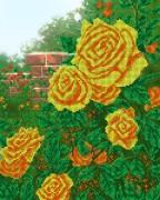 Рисунок на ткани для вышивки бисером Жёлтые розы