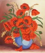 Рисунок на ткани для вышивки бисером Маков цвет