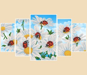Рисунки на атласе для вышивки бисером Ромашки Марiчка (Маричка) РКП-1001 - 380.00грн.