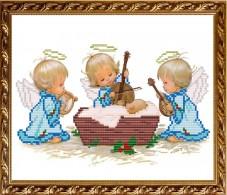 Схема вышивки бисером на габардине  С Рождением Мальчика! Art Solo VKA4016A