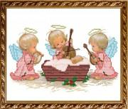 Схема вышивки бисером на габардине С Рождением Девочки!