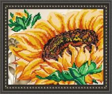 Рисунок на габардине для вышивки бисером Подсолнух Art Solo VKA4101