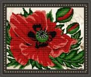 Рисунок на габардине для вышивки бисером Мак
