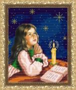Рисунок на габардине для вышивки бисером Молитва перед сном