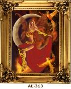 Рисунок на ткани для вышивки бисером Огненная фантазия