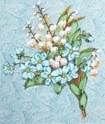 Набор для вышивки лентами Весенний букет