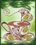 Рисунок на габардине для вышивки бисером Ароматный чай