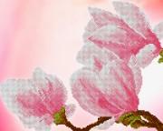 Рисунок на ткани для вышивки бисером Очарование магнолий 2