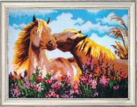 Набор для вышивки бисером Обожаю тебя!, , 752.00грн., 591Б, Баттерфляй (Butterfly), Большие наборы