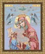 Рисунок на габардине для вышивки бисером Богородица Достойно есть